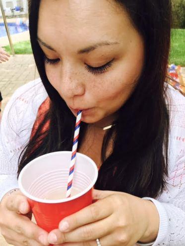 Jessica Drinking Sangria
